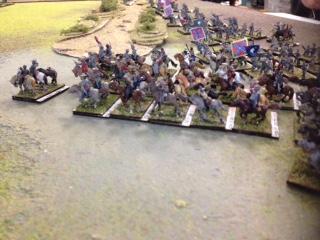 Rebel Cav on far left flank