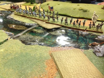 Heavy fighting at the ford