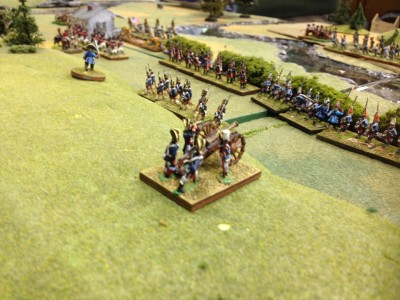 Hessian Grenadier Brigade supported by the Royal Artillery