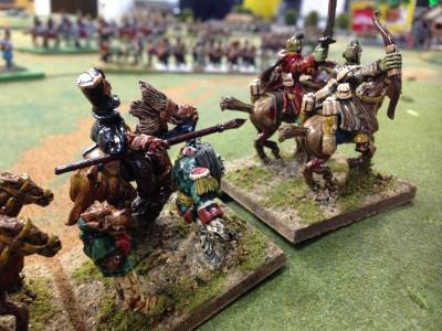 Cossacks, Zombie cavalry start the engagement with aggressive pressing attacks