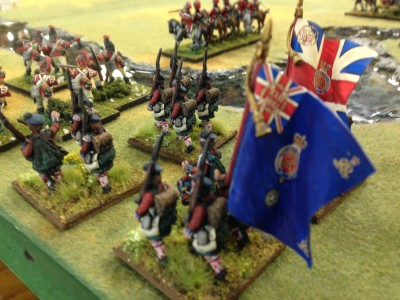 British respond.  Highlanders, Lights and Dragoons oh my!