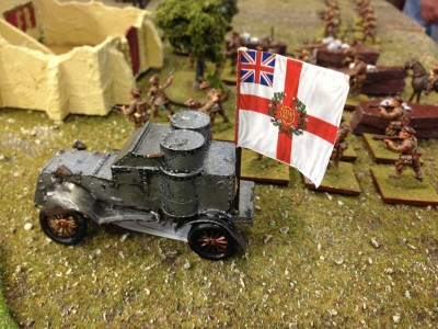 British armor on the flank