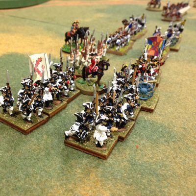 For Spain the Bourbon Monarchies! Spanish Infantry advance