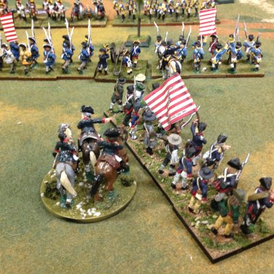 The Flank is refused and the Continentals retire after the loose of the French command.