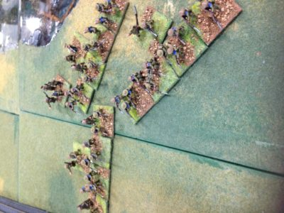 White Infantry on the attack