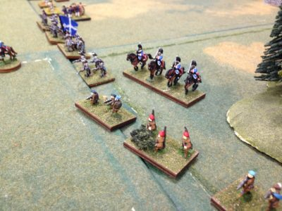 this is the left flank of the  French attack it is open with a single unit of Rangers protecting it.