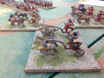 Egyptian Chariots on the Charge!..this did not work out.